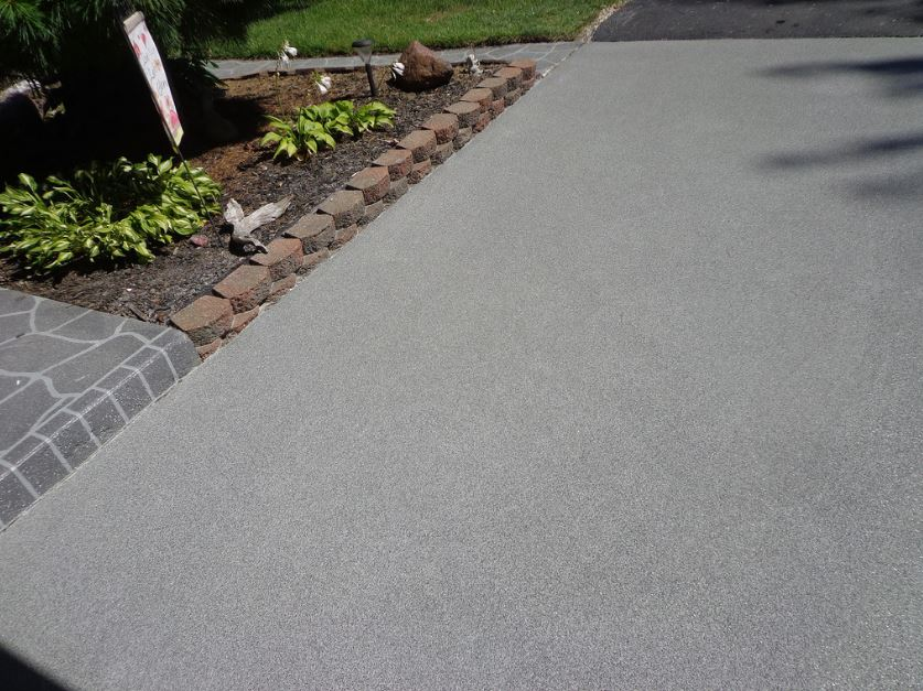 this is a picture of concrete driveway resurfacing in el dorado hills, ca