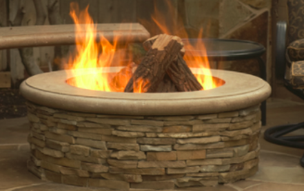 this is a picture on fire pit contractor